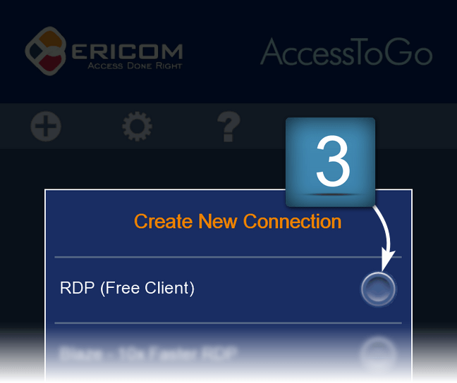Connection via RDP for Android